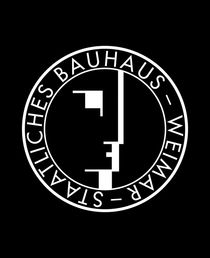 BAUHAUS WEIMAR LOGO BLACK von THE USUAL DESIGNERS