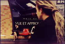 Girl travelling by Paris Subway by Marcia Treiger