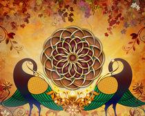 Autumn-serenade-mandala-of-the-two-peacocks-20x16