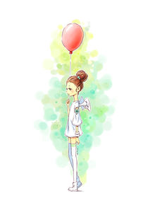 Balloon Girl von freeminds
