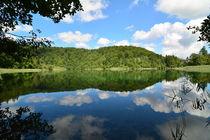 See mit Spiegelungen, Plitvicer Seen, Kroatien by Mark Gassner
