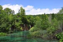 See mit Wasserfällen, Plitvicer Seen, Kroatien by Mark Gassner