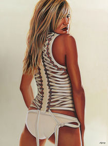 Cameron Diaz painting by Paul Meijering