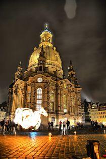 Frauenkirche Dresden  Feuertanz von Frank Voß