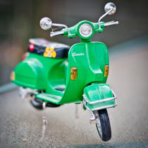Classically Italian Toy Green Vespa Scooter von Moorstone Images