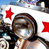 Classically Italian Lambretta Mod Scooter, Brighton by Moorstone Images