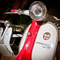 Mod Lambretta Scooter, Brighton, England by Moorstone Images