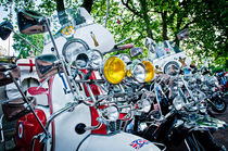 Mod Vespa and Lambretta scooter rally von Moorstone Images