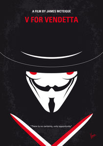 No319 My V for Vendetta minimal movie poster von chungkong