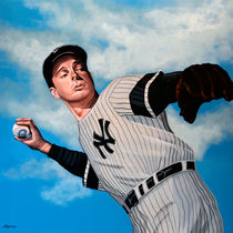 Joe DiMaggio painting by Paul Meijering