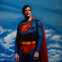 Superman painting by Paul Meijering