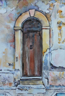 old door in Calabria, Italy von Katia Boitsova-Hošek