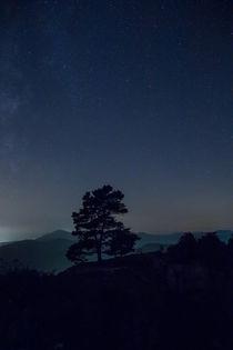 Sternenhimmel über der Burgruine Neuscharfeneck