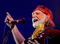 Willie Nelson painting by Paul Meijering