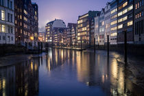 hamburg city by night von Simon Andreas Peter