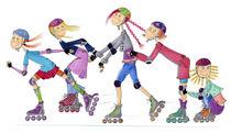 Inline skater femininas von Monika Blank-Terporten