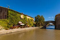 Canal du Midi in  Le Somail (Südfrankreich) von jarek