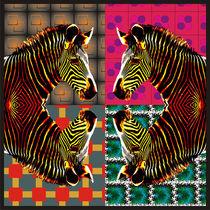 Colorful Zebras by Nandan Nagwekar