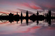 Newcastle-skyline-sunset