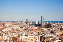 Cityscape, Barcelona, Spain by Tasha Komery
