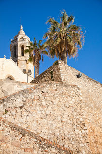 Cathedral stairs, Sitges, Spain von Tasha Komery