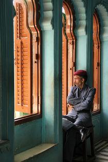 City Palace guard, Udaipur by Tasha Komery