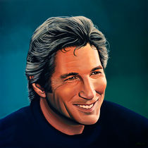 Richard Gere painting by Paul Meijering