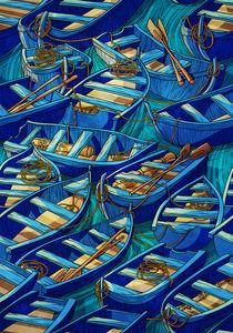 Pattern boats von Anna Brodovska