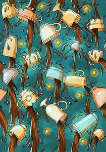 Pattern cups by Anna Brodovska