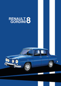 Renault 8 Gordini Poster Illustration by Russell  Wallis