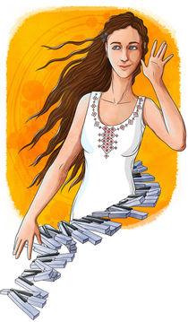 Strikha pianogirl by Anna Brodovska
