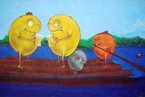 Isar-Monster beim Smalltalk... by loewenherz-artwork