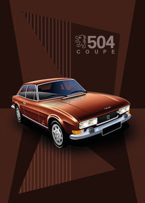 Peugeot 504 Coupe Poster Illustration by Russell  Wallis