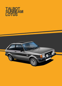 Talbot Sunbeam Lotus Poster Illustration by Russell  Wallis