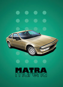 Matra Murena Poster Illustration by Russell  Wallis
