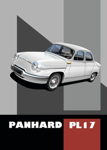Panhard PL17 Poster Illustration by Russell  Wallis