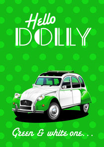 Citroen 2CV Dolly Poster Illustration von Russell  Wallis