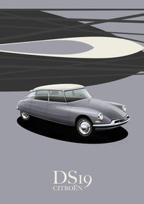Citroen DS19 Poster Illustration by Russell  Wallis