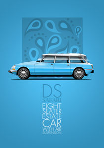 Citroen DS Safari Poster Illustration by Russell  Wallis