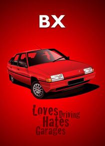 Citroen BX Poster Illustration by Russell  Wallis