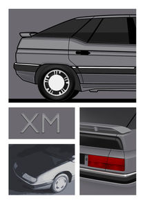 Citroen XM Poster Illustration by Russell  Wallis