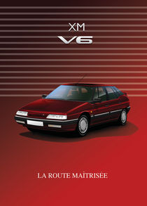 Citroen XM V6 Poster Illustration von Russell  Wallis