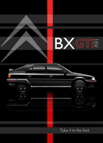Citroen BX GTI 16V Poster Illustration by Russell  Wallis