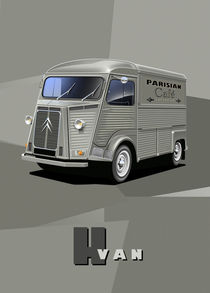 Citroen HY Van Poster Illustration von Russell  Wallis