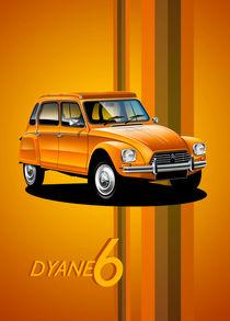 Citroen Dyane Poster Illustration von Russell  Wallis