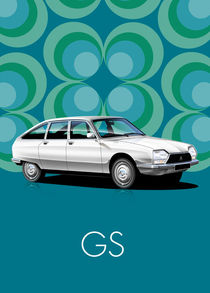 Citroen GS Poster Illustration von Russell  Wallis