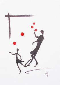 Jonglieren von Theodor Fischer