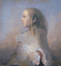 Helene in profile von Odd Nerdrum