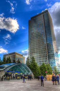 Canary Wharf Station London von David Pyatt