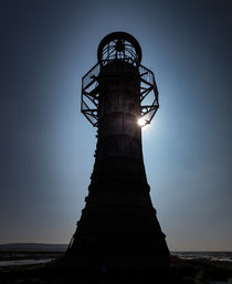 Whitford lighthouse north Gower by Leighton Collins